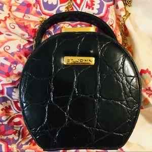 St John  Vintage Small Bag - 5.5 by 5.5 faux croc